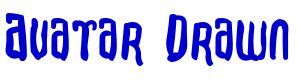 Avatar Drawn font