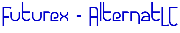Futurex - AlternatLC font