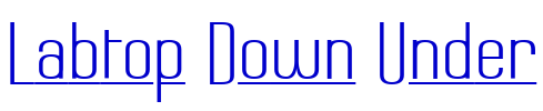 Labtop Down Under font